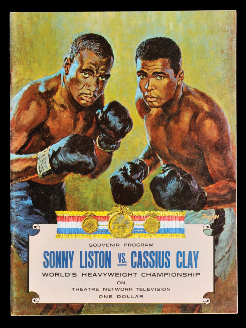 A poster advertising the Ali-Liston match.