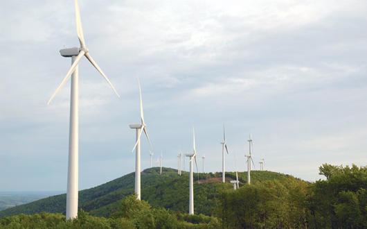 First Wind's wind farm in Mars Hill Maine.