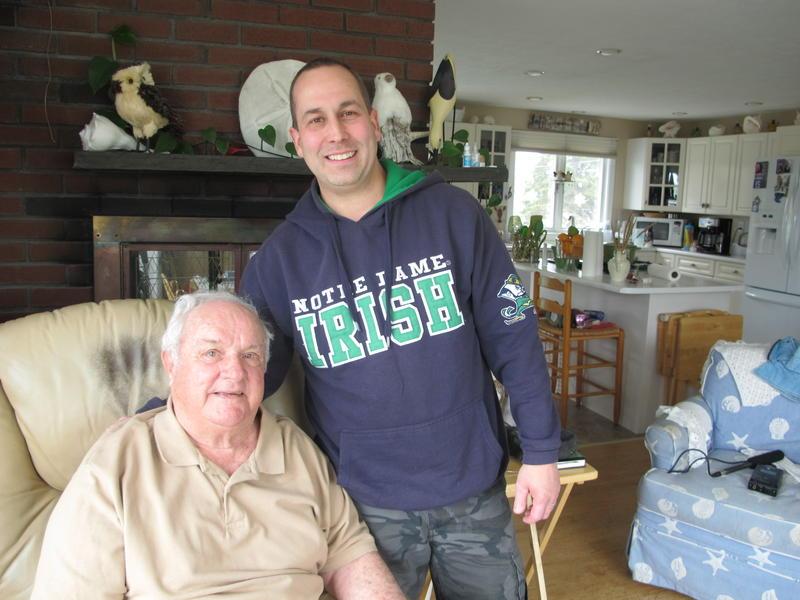 Veterans Raymond Goulet, left and Jim Yankura have struck up a friendship through the Vet to Vet program.