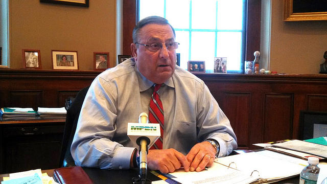 Gov. Paul LePage in his State House office in November.