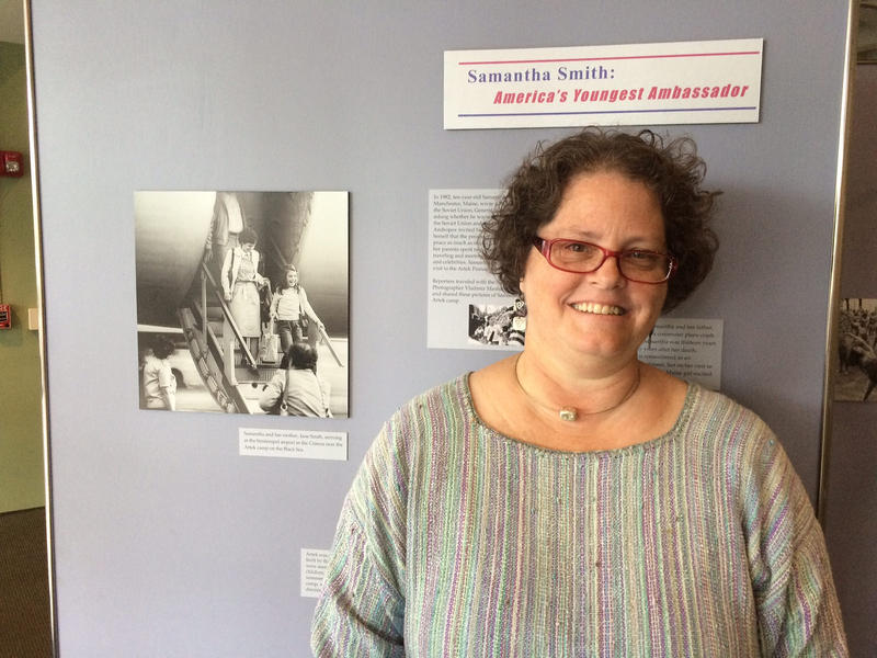 Laurie LaBar curated the Samantha Smith exhibit at the Maine State Museum in Augusta.