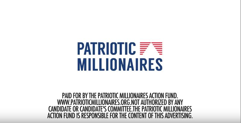 Patriotic Millionaires YouTube advertisement in support of a higher minimum wage