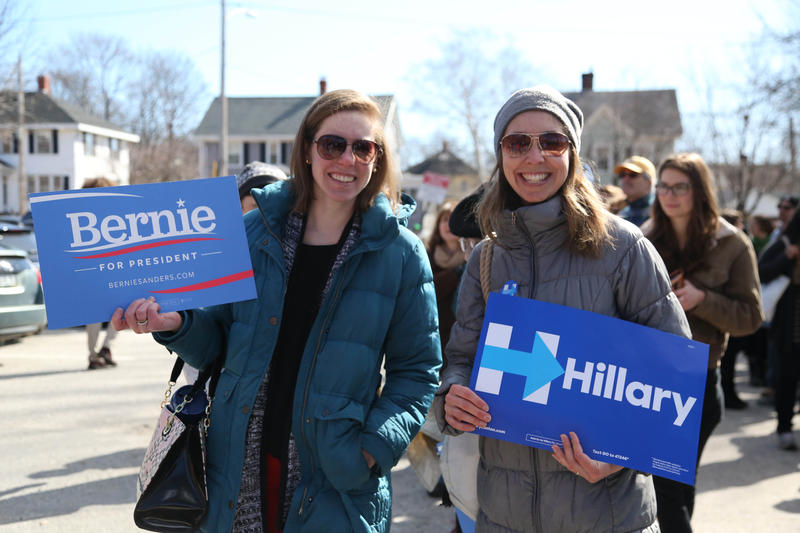 A Bernie  Sanders supporter and a Hillary Clinton supporter agree to disagree.