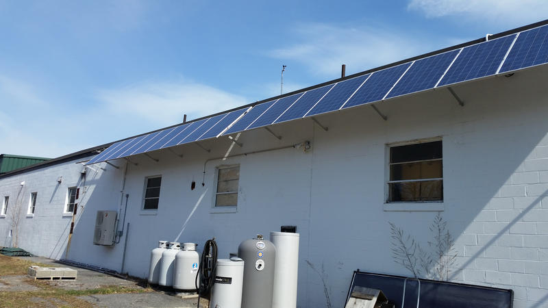 Solar panels at Revision Energy in Portland.