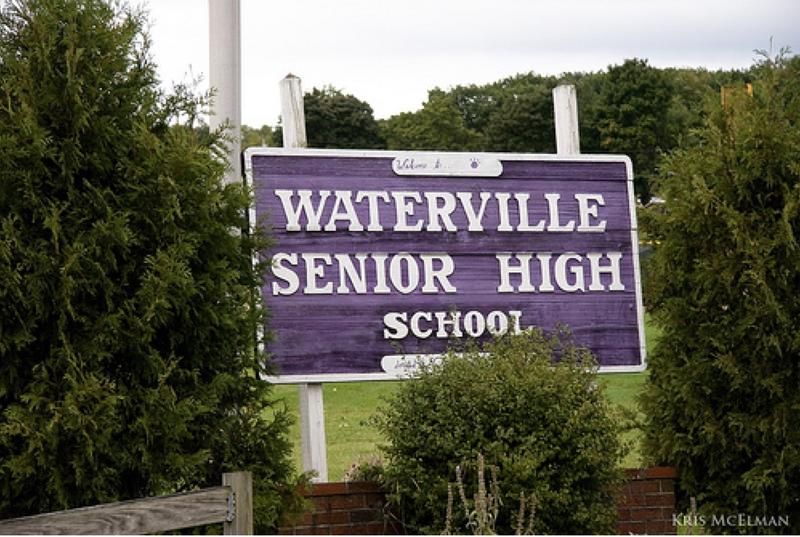 Waterville Senior High School Sign