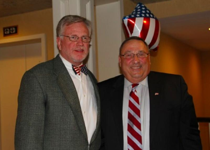 GOP Congressional Candidate Mark Holbrookwith Maine Gov. Paul LePage