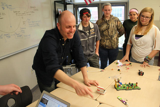 Dan Ryder Teaches Students Design Thinking at Mt. Blue High School