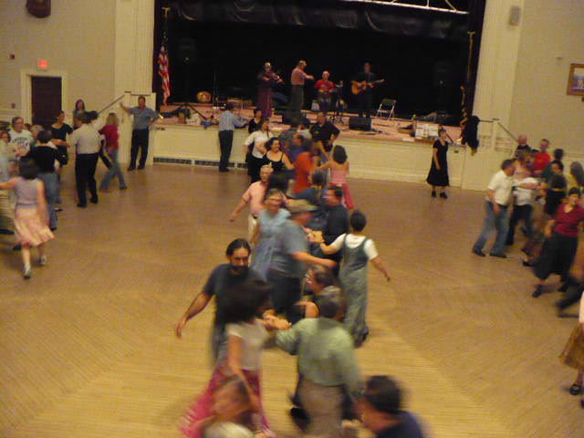 Contra dancers in Peterborough, New Hampshire