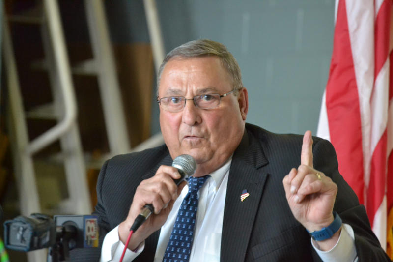 Gov. Paul LePage at a town hall meeting last month in South Paris.