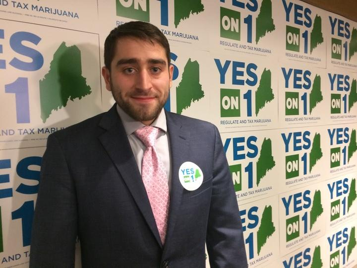 David Boyer, campaign spokesman for the Yes on 1 campaign at the campaign's Election Night headquarters in Portland.