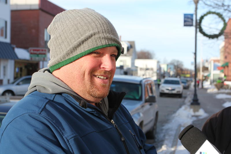 Mike Faloon grew up in Medway and graduated from Schenck High School in Millinocket. He says like many, he had to leave the state to find a good job. He currently lives in Boston, but made the trip back for the marathon.