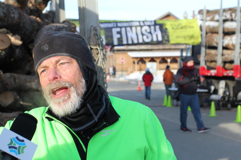 Veteran marathoner, John Hough, says ice and frigid winds along the Golden Road made the course especially demanding.
