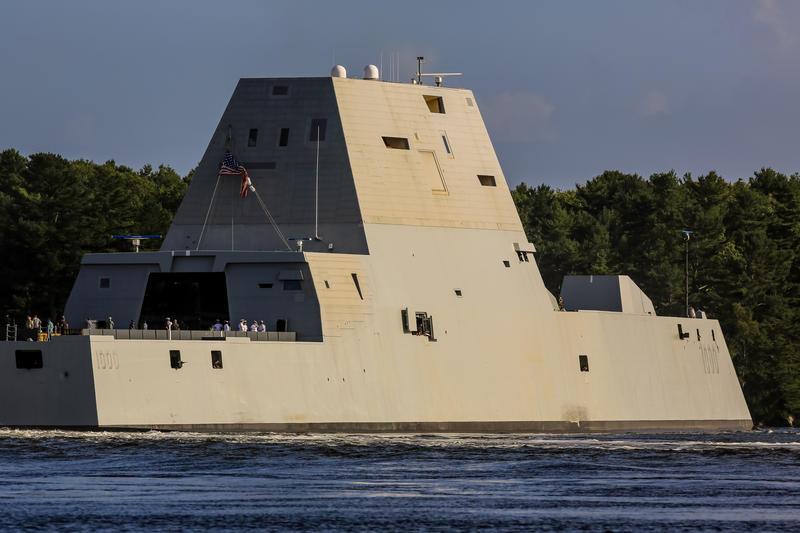 USS Zumwalt off Arrowsic in September.