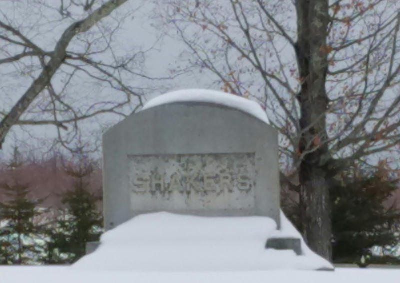 The Shakers' grave site in New Gloucester.
