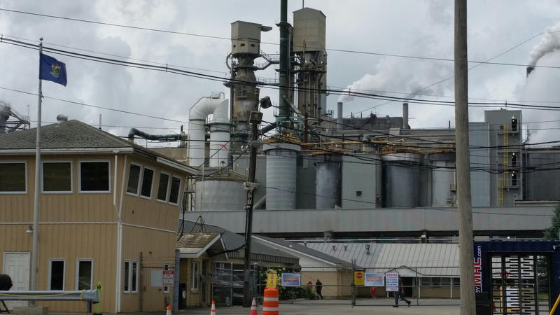 The Veso Paper mill in Jay, where 190 workers are expected to be laid off this month.