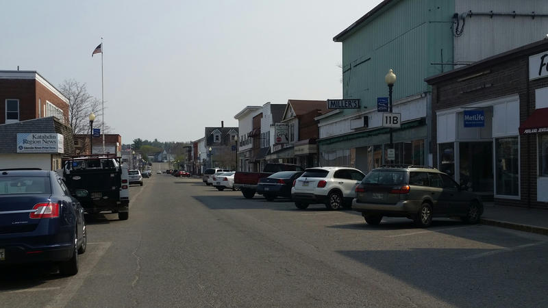 Downtown Millinocket in May.