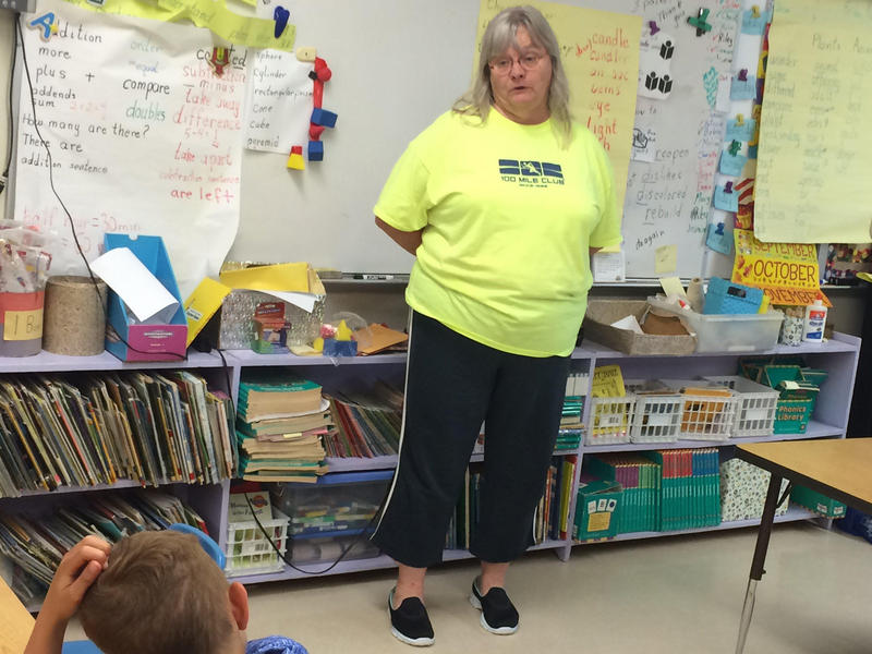 Lead Teacher Beverly Foss teachers her first-grade class at Athens Elementary School.