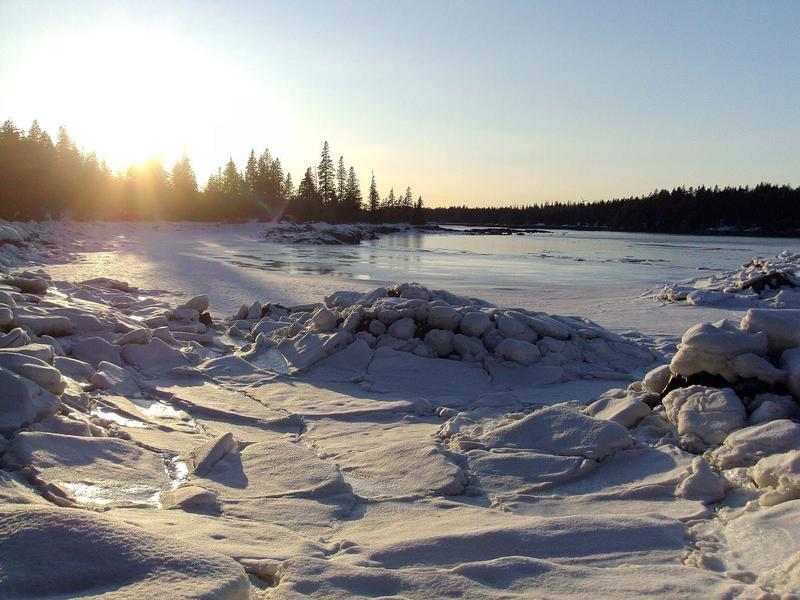 A winter scene on Vinalhaven