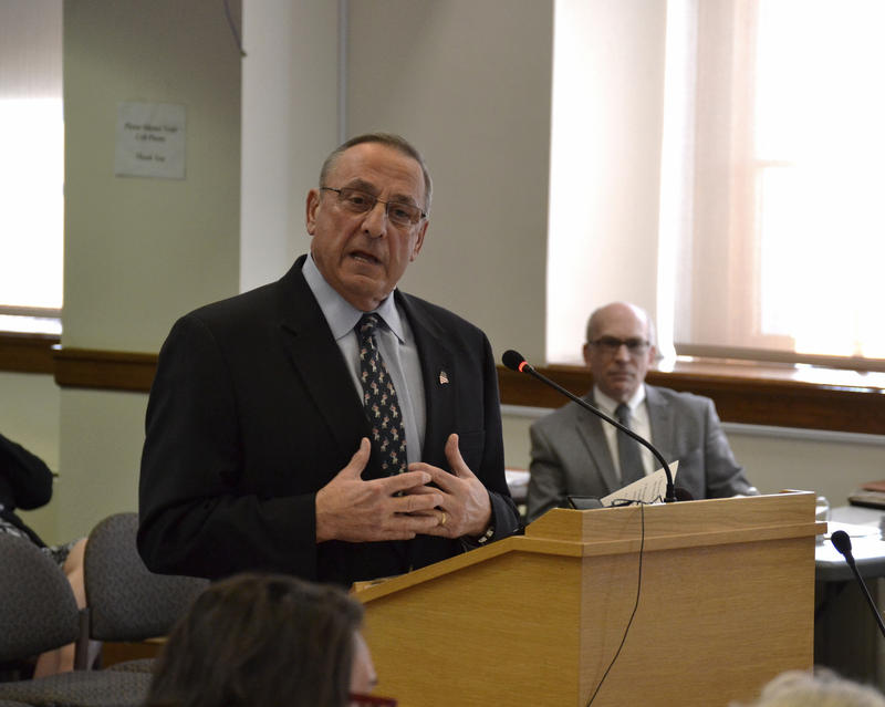 Gov. Paul LePage Monday tries to convince lawmakers on the Appropriations Committee of the merits of his budget plan.