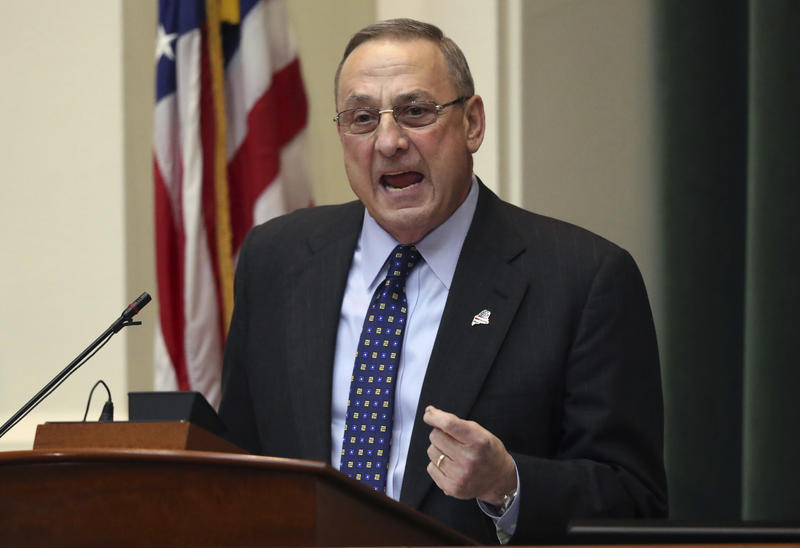 Gov. Paul LePage delivers the State of the State address to the Legislature, Tuesday, Feb. 7, 2017, at the State House in Augusta.