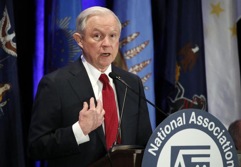 Attorney General Jeff Sessions speaks at the National Association of Attorneys General annual winter meeting Tuesday in Washington.