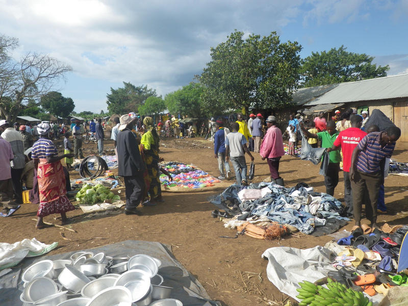A market at the Kyangwali refugee settlement in Uganda, where Charles spent almost half his life.