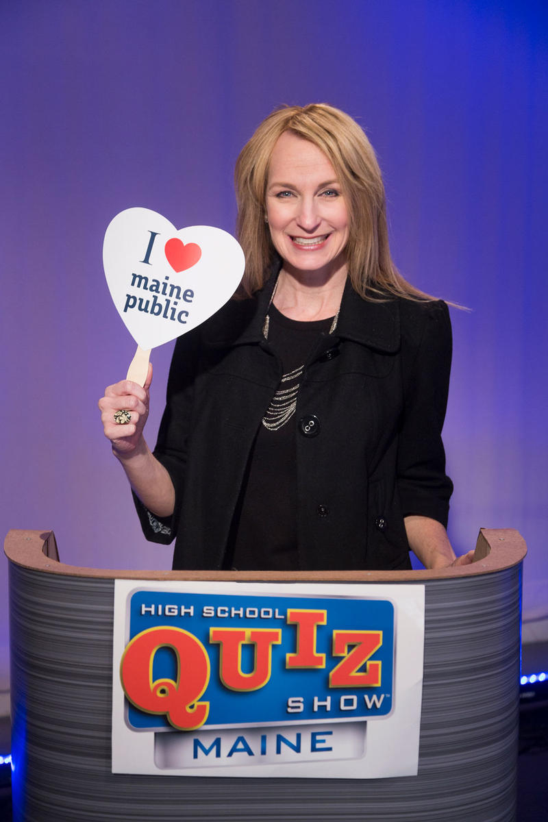 Shannon Moss, host of High School Quiz Show Maine, has the right answer! Maine Public!