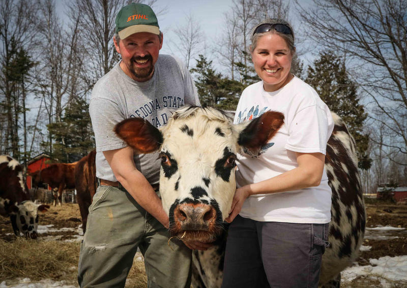 Doug and Heather Donahue, owners of Balfour Farm in Pittsfield.