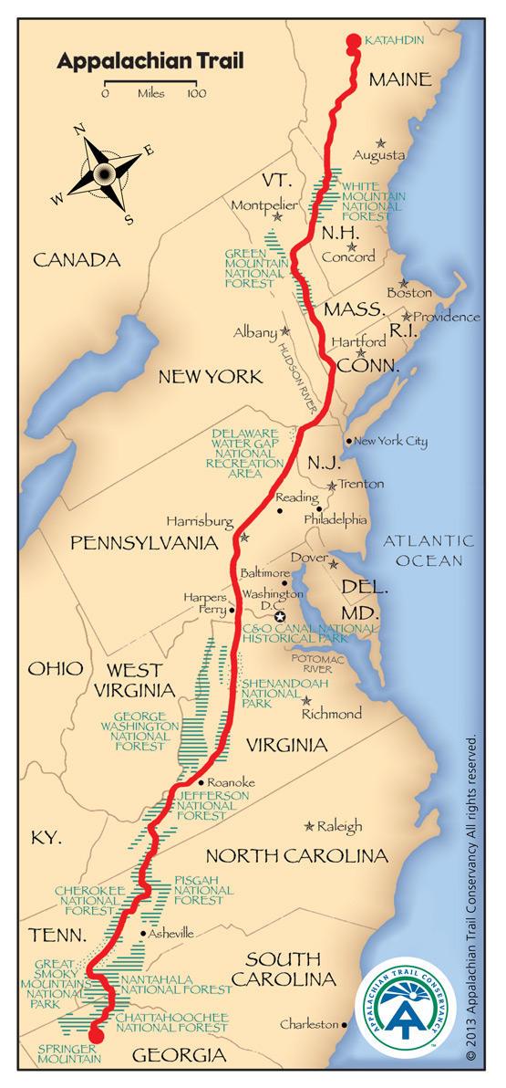 Detailed Appalachian Trail Map   Maine Public