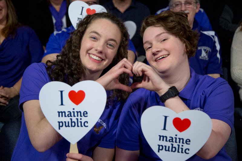 Marshwood High School Students love Maine Public!