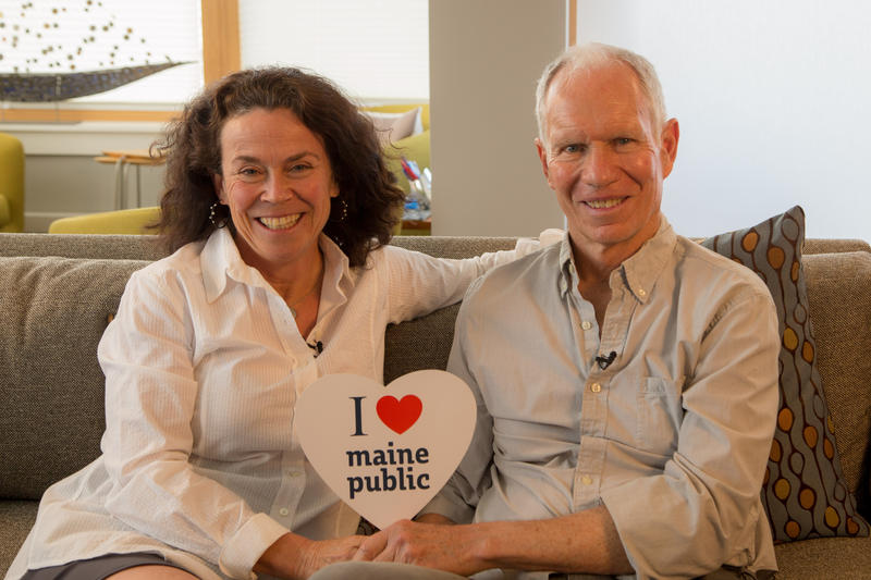 Susan and Chip share a love for public broadcasting in Maine.