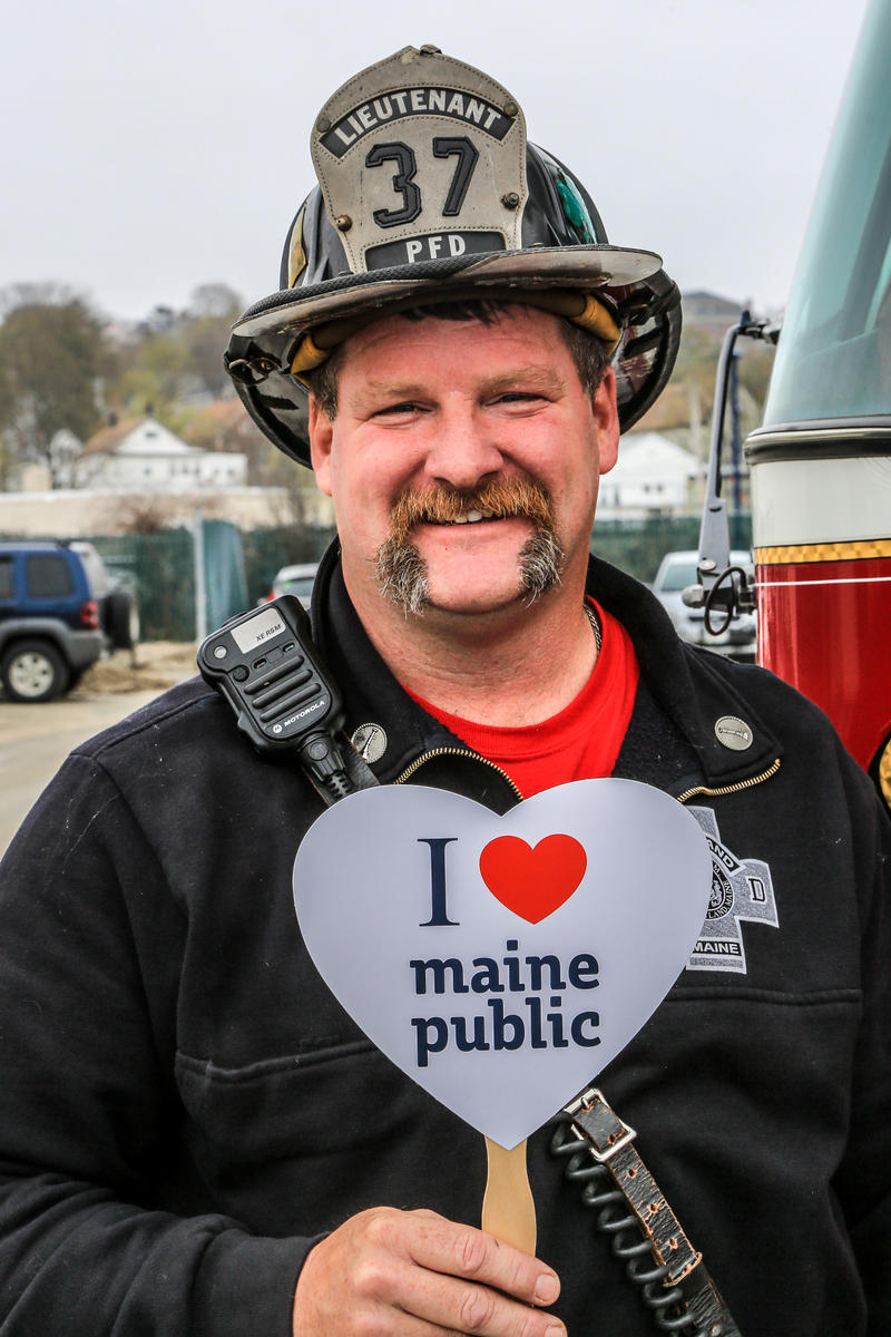Lieutenant Alan Greene is totally on board with Maine Public!