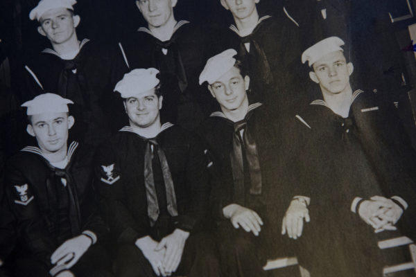 Perry Drew (pictured bottom right) was drafted during World War II when he was 18 years old.