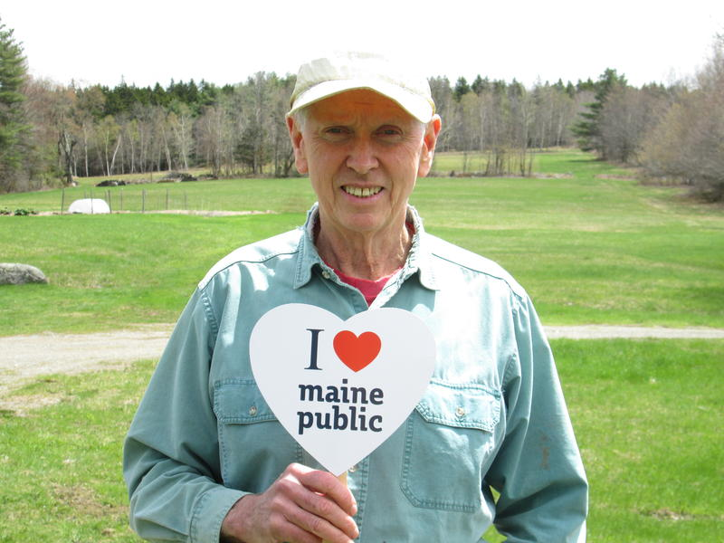 Professor John Twomey shows his support from his self-sufficient farm in Montville.