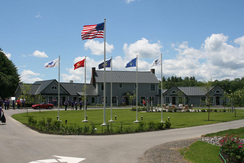 The Travis Mills Retreat for wounded veterans officially opened Sunday in Rome, Maine.
