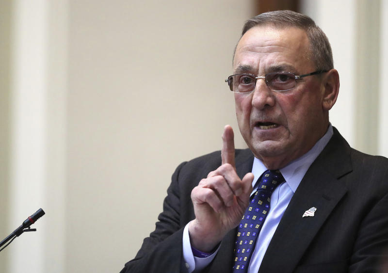 Gov. Paul LePage delivers the State of the State address to the Legislature in February at the State House in Augusta.