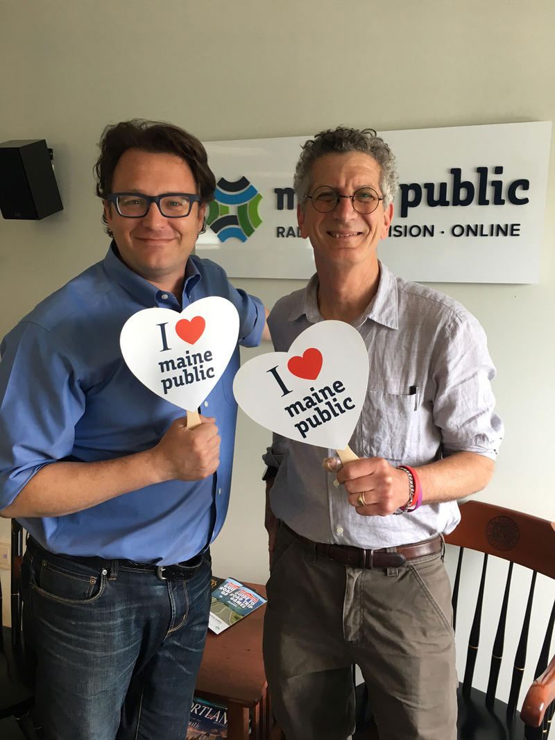 J Wow and Stuart K love Maine Public!