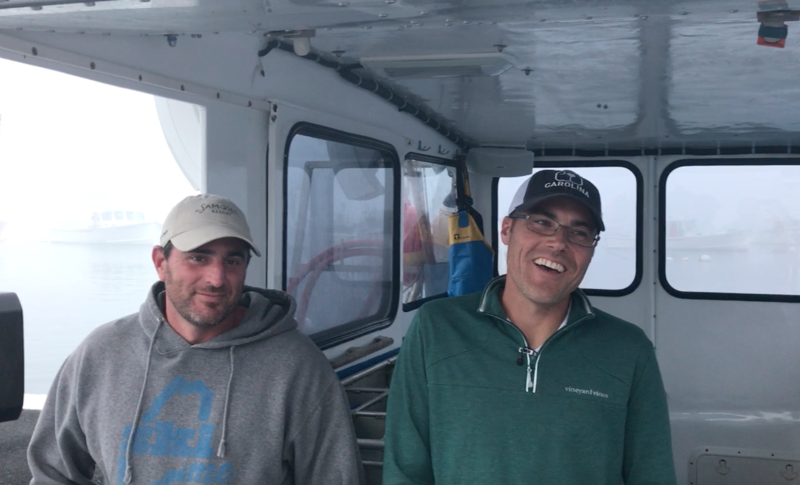 Jeffrey Dorr Jr. (left) and Capt. Jeremy Willey