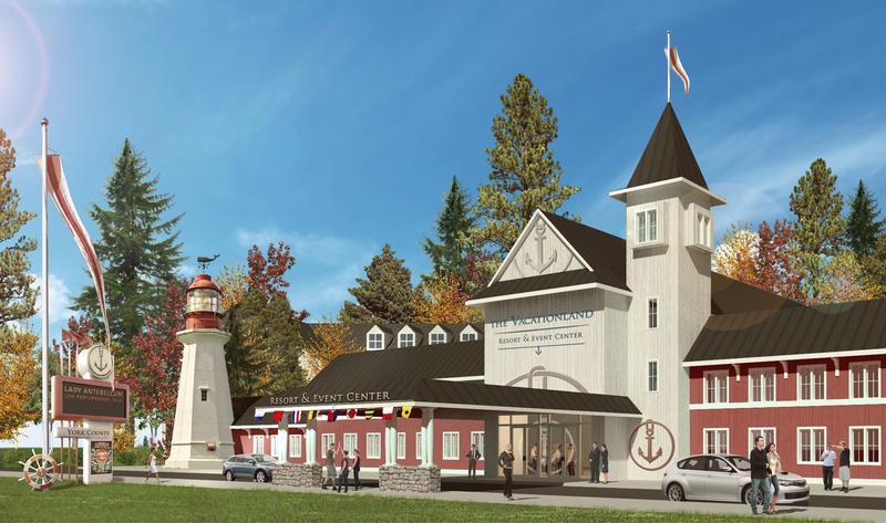 A rendering of the proposed York County casino.