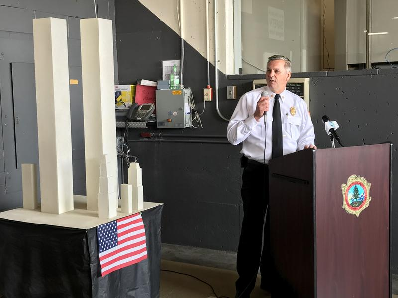 Bangor Fire Chief Thomas Higgins recalls the sacrifices made by emergency responders during the Sept. 11th, 2001 terrorist attacks.