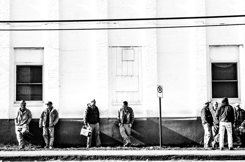 """Bath Iron Works workers, from """"Southgate Faces."""""""