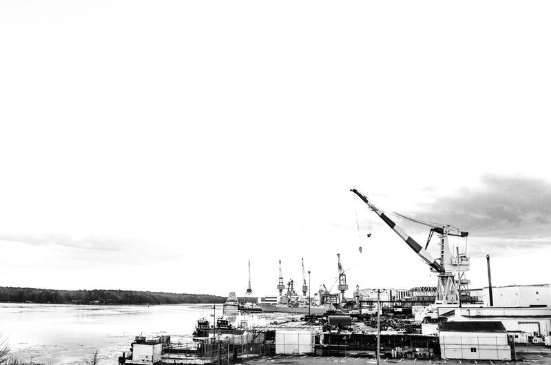 """Bath Iron Works, from """"Southgate Faces."""""""