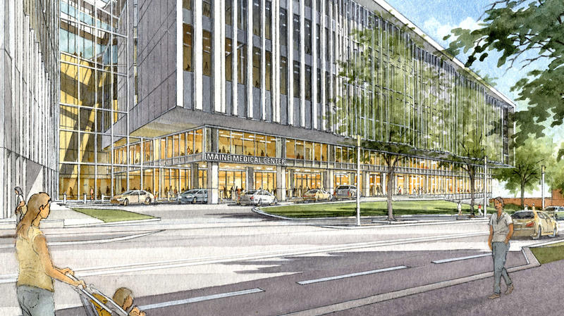 A rendering of the Maine Medical Center expansion.