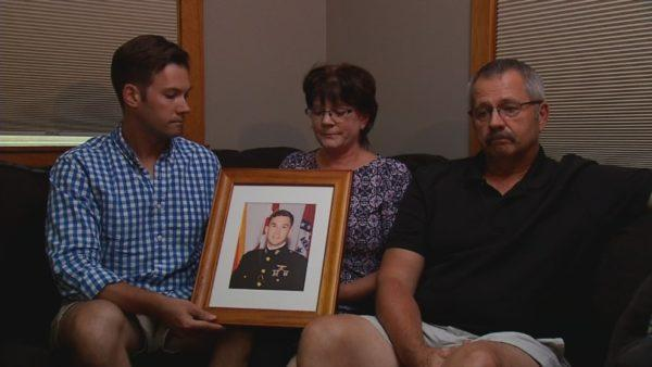 The family of Ben Cross, including brother Ryan Cross (from left), mother Valerie Cross and father Robert Cross.