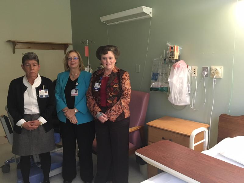 Lorraine Rodgerson (from left),  vice president of nursing at Charles A. Dean Memorial Hospital; hospital President Terri Vieira; and Lisa Harvey-McPherson, vice president of government relations at Eastern Maine Healthcare Systems