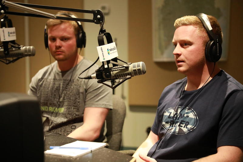 """Dan Giguere and Danny Moody appear on """"Maine Calling"""" in March."""