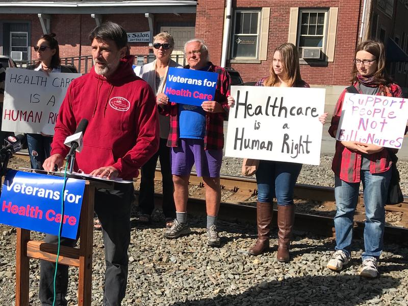 Gale White, retired naval officer and owner of the Lubec Brewing Co., says Poliquin needs to support the ACA that fills in the health care coverage gaps for vets and their families.