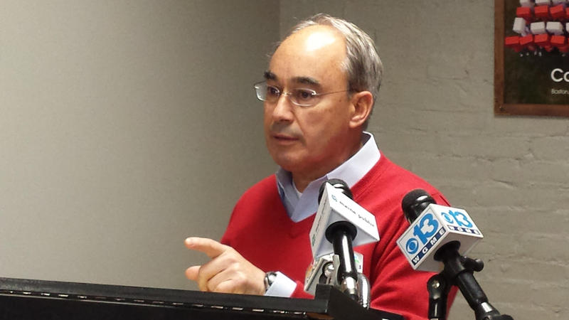 Maine 2nd District Rep. Bruce Poliquin at a news event in December of 2014.