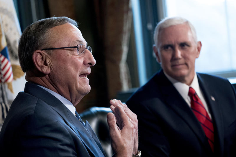 Maine Gov. Paul LePage (left) and Vice President Mike Pence in September.