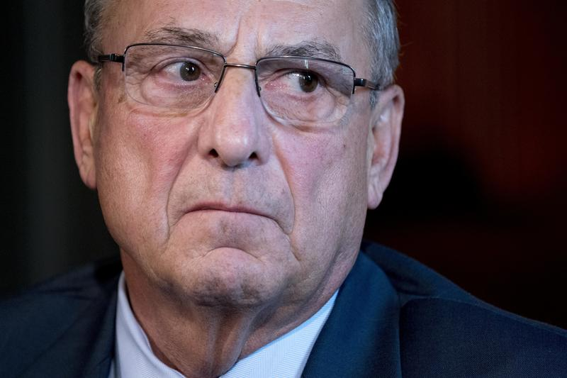 This Sept. 22, 2017 file photo shows Maine Gov. Paul LePage attending a meeting with Vice President Mike Pence to discuss health care and tax reform in the Eisenhower Executive Office Building on the White House Complex in Washington.